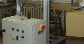<b> Encapsulator - power source</b>:   Power source with controls is on the back of strand.