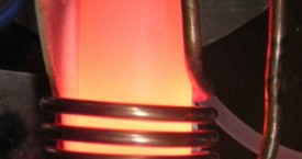 <b> Cu soldering</b>:   Soldering of round log to a flat surface.