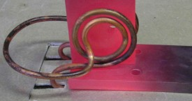 <b> Cu soldering</b>:   Shaped inductor for soldering of two plates.