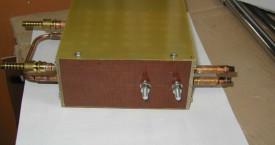 <b> Generátorový modul</b>:  Skříň generátoru v základním provedení. Tento modul je většinou montován do požadované aplikace. Např. indukční pícka nebo ohřívací přípravek.